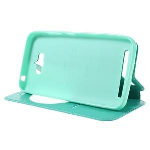 Luxusní puzdro s okienkom pre mobil Asus Zenfone Max - cyan - 4