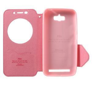 Diary peněženkové pouzdro s okýnkem na Asus Zenfone Max - rose - 4