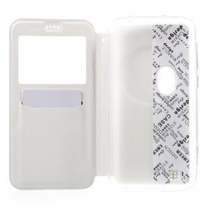 Peněženkové pouzdro s okýnkem na Asus Zenfone Zoom - bílé - 4