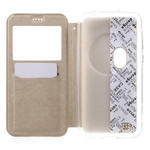 Peňaženkové puzdro s okienkom pre Asus Zenfone Zoom - zlaté - 4