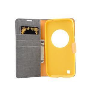 PU kožené puzdro pre Asus Zenfone Zoom - šedé - 4