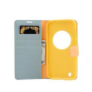 PU kožené pouzdro na Asus Zenfone Zoom - světlemodré - 4