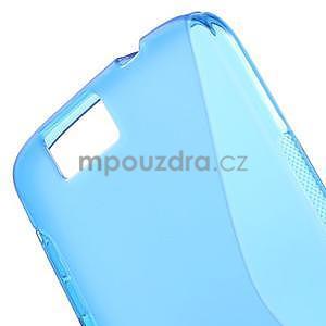 Gélový kryt S-line Huawei Ascend G7 - modrý - 4