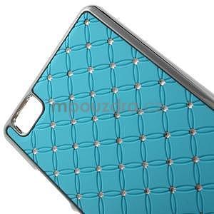 Drahokamový plastový obal na Huawei Ascend P8 Lite - světle modrý - 4