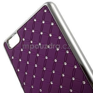 Drahokamový plastový obal na Huawei Ascend P8 Lite - fialový - 4