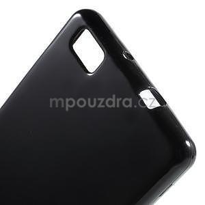 Lesklý gelový obal na Huawei P8 Lite - černý - 4