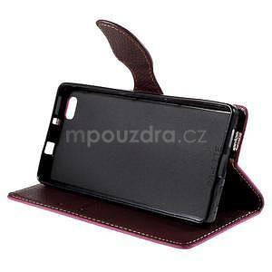 Zapínací PU kožené pouzdro na Huawei P8 Lite -rose - 4
