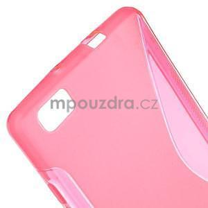 Rose S-line gelový obal na Huawei Ascend P8 Lite - 4