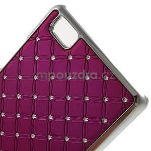 Drahokamový plastový obal na Huawei Ascend P8 Lite - rose - 4