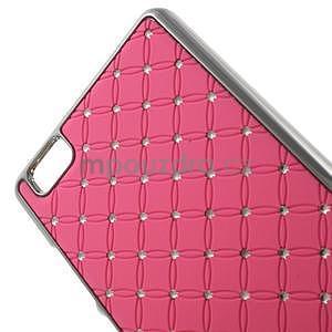 Drahokamový plastový obal na Huawei Ascend P8 Lite - růžový - 4