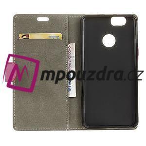 Wally PU kožené puzdro na mobil Huawei Nova - ružové - 4
