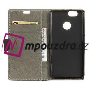 Wally PU kožené puzdro na mobil Huawei Nova - čierne - 4