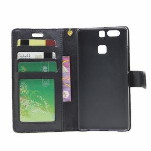 Croco peněženkové pouzdro na Huawei P9 - černé - 4
