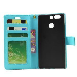Croco peněženkové pouzdro na Huawei P9 - modré - 4