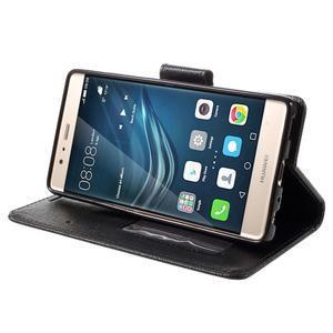 Crossy peňaženkové puzdro na Huawei P9 - čierne - 4