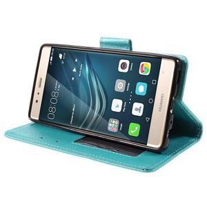 Crossy peněženkové pouzdro na Huawei P9 - modré - 4