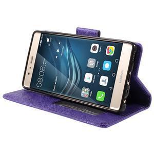 Crossy peněženkové pouzdro na Huawei P9 - fialové - 4