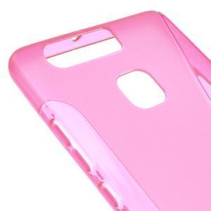 S-line gelový obal na mobil Huawei P9 - rose - 4
