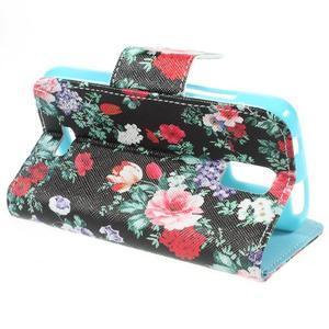 Peňaženkové puzdro na mobil Huawei Y3 a Y360 - kvetiny - 4