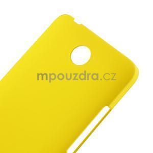 Žltý pogumovaný plastový kryt na Huawei Y635 - 4