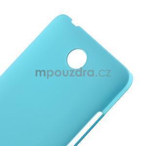 Svetlo modrý pogumovaný plastový kryt na Huawei Y635 - 4