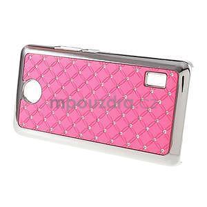 Drahokamový plastový kryt na Huawei Y635 -  ružový - 4