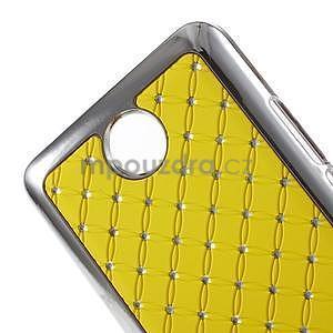 Drahokamový plastový kryt na Huawei Y635 - žltý - 4