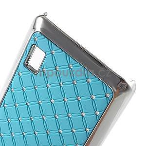 Drahokamový plastový kryt na Huawei Y635 - svetlo modrý - 4
