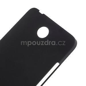 Čierny pogumovaný plastový kryt na Huawei Y635 - 4