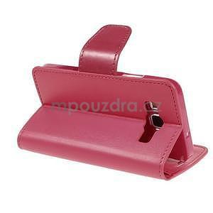 Rose kožené peňaženkové puzdro pre Samsung Galaxy A3 - 4