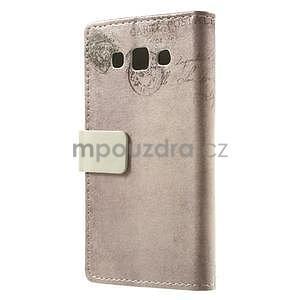 Peňaženkové puzdro pre Samsung Galaxy A3    - mačička - 4