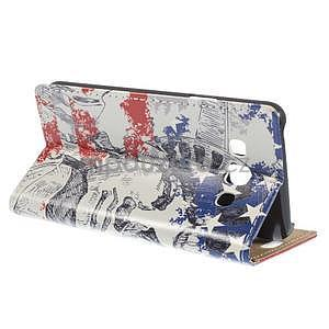 Peňaženkové puzdro pre Samsung Galaxy A3    - Socha Svobody - 4