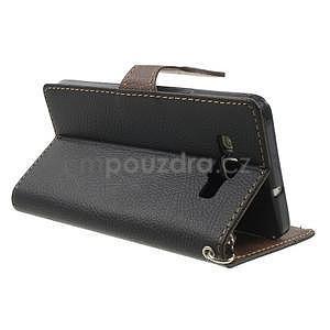 Čierné/hnedé kožené puzdro na Samsung Galaxy A5 - 4