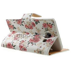 Peňaženkové zapínací puzdro na Samsung Galaxy A5 - růže elegant - 4