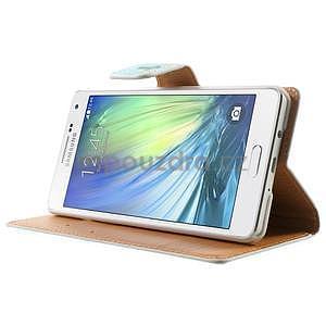 Peňaženkové zapínací puzdro na Samsung Galaxy A5 - kytice - 4