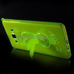 Zelený gélový obal s nastavitelným stojánkem na Samsung Galaxy A5 - 4