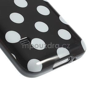 Čierny puntíkatý gélový obal pre Samsung Galaxy S5 mini - 4