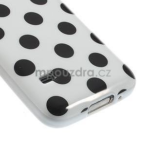 Biely puntíkatý gélový obal pre Samsung Galaxy S5 mini - 4