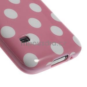 Růžový puntíkatý gelový obal na Samsung Galaxy S5 mini - 4