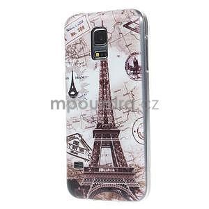 Ultra tenký gélový obal Samsung Galaxy S5 mini - Eiffel - 4