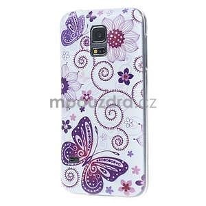 Ultra tenký gélový obal Samsung Galaxy S5 mini - motýlek - 4