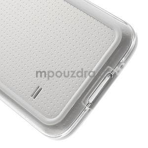 Bílý gelový kryt s plastovými lemy na Samsung Galaxy S5 mini - 4