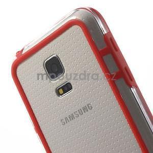 Červený gélový kryt s plastovými lemy pre Samsung Galaxy S5 mini - 4