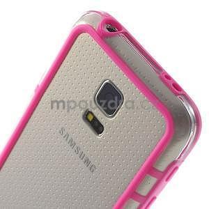 Rose gélový kryt s plastovými lemy pre Samsung Galaxy S5 mini - 4