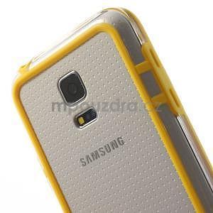 Žltý gélový kryt s plastovými lemy pre Samsung Galaxy S5 mini - 4