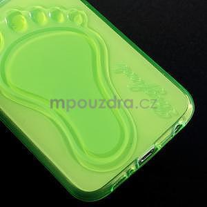 Protiskluzový gélový kryt pre Samsung Galaxy S6 - zelený - 4