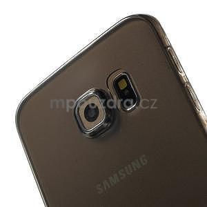 Ultra tenký gélový obal na Samsung Galaxy S6 Edge - šedý - 4