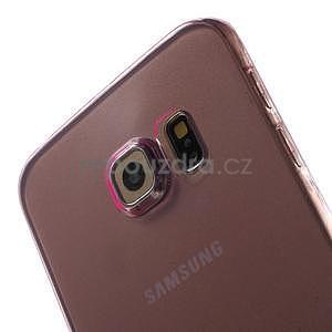 Ultra tenký gélový obal na Samsung Galaxy S6 Edge - rose - 4