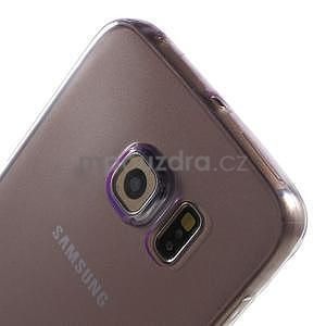 Ultra tenký gélový obal na Samsung Galaxy S6 Edge - fialový - 4