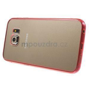 Rose hybridný gélový obal pre Samsung Galaxy S6 Edge - 4